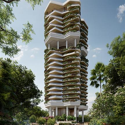 PLP Architecture's first Asian residential development wrapped in a vertical garden