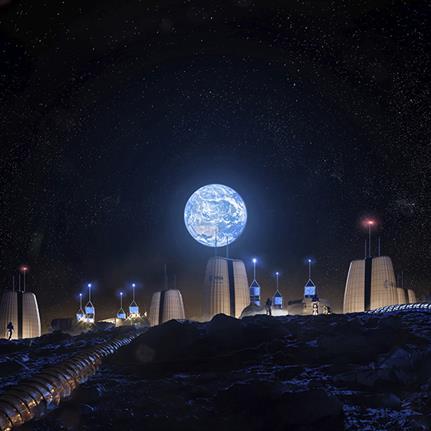 SOM's Moon Village presented at La Biennale Architettura 2021