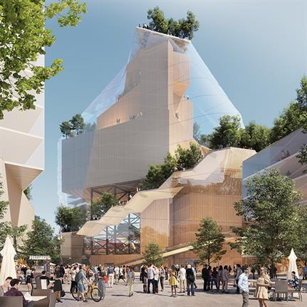MVRDV turn Eindhoven's Heuvel shopping centre into a green cultural quarter