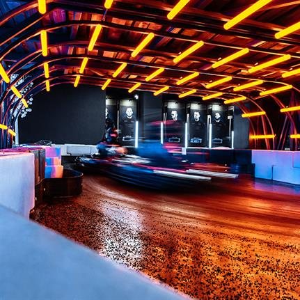 Russia's first electric cartodrome: racetrack, shopping and hookahs combine