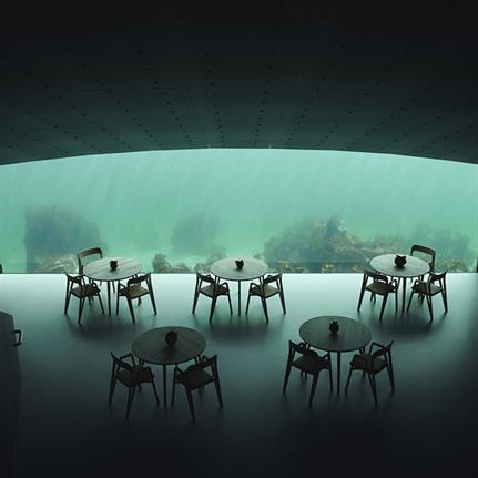 Tap into the first under-water restaurant's 3D wonder