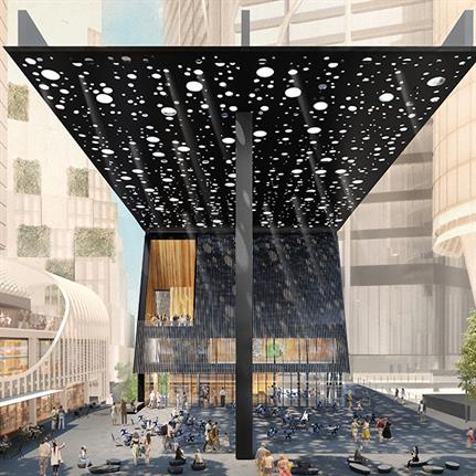 Aborigine artist adjoins with Adjaye Associates to design Australia's new Sydney Plaza