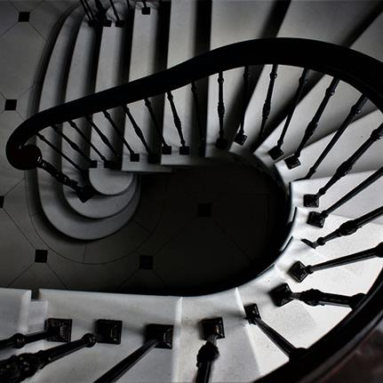 Floating Scottish stone stairway steps back in time