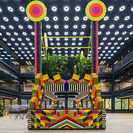 Morag Myerscough creates permanent works for a new public space at 1 Finsbury Avenue Square