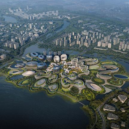 China's Chengdu's Unicorn Island masterplan