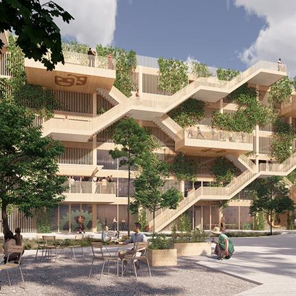 Design team duo deliver Denmark's first wooden parking house