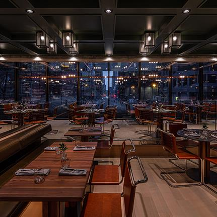 Downtown Montreal: Atelier Zébulon Perron's $30m renovation of Le Germain Hotel's bar and restaurant
