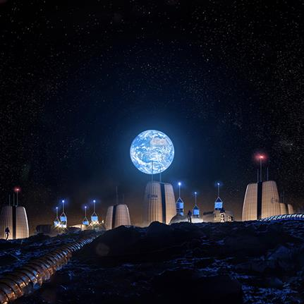 Visionary designs for living on the moon from SOM and ESA