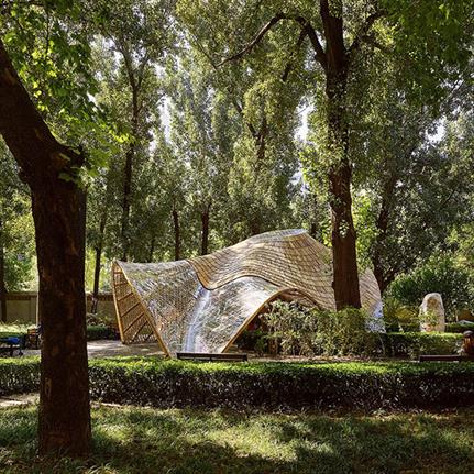 2019 WAN Awards Entry: Swirling Cloud: Bulletin Pavilion for BJFU Garden Festiva - SUP Atelier