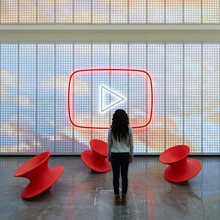 Valerio Dewalt Train Associates redesign lobby at YouTube's headquarters