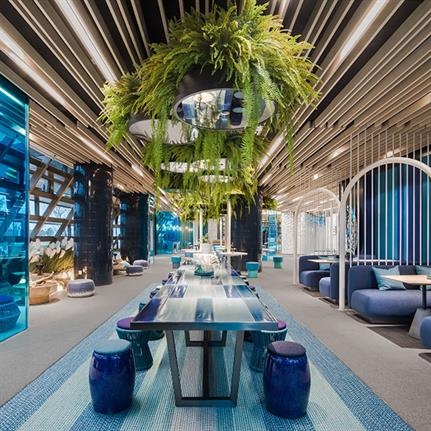 Location leads to inspiration as China's CIFI Sales Center's style adopts the sea