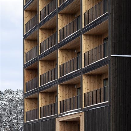 Solid timber building targets sustainability