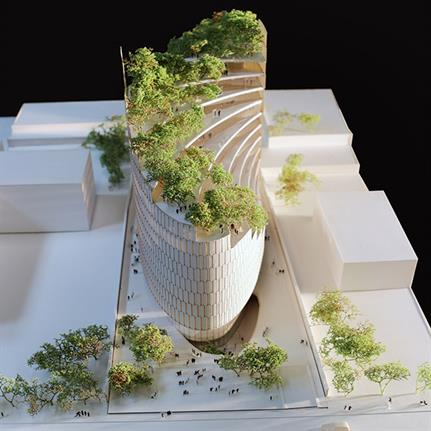 2019 WAN Awards: Tirana Mixed Use Building - Mario Cucinella Architects