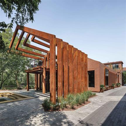 2020 WAN Awards entry: Liva Riverside Book Bar Reconstruction - Lacime Architects