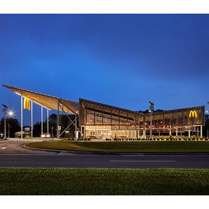 2021 WAN Awards entry: Kebony McDonald's Flagship Global Restaurant - Kebony
