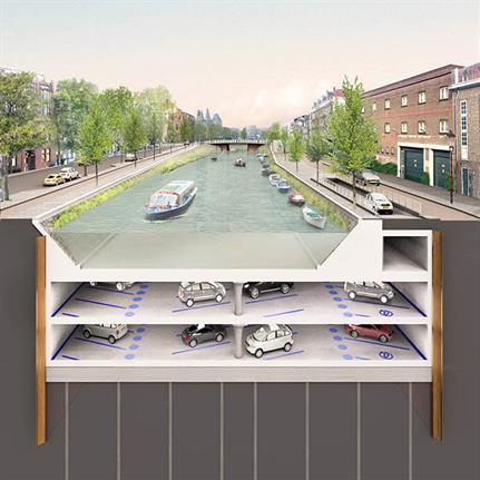 2019 WAN Awards: Albert Cuyp Underwater parking garage Amsterdam - ZJA Zwarts & Jansma Architects