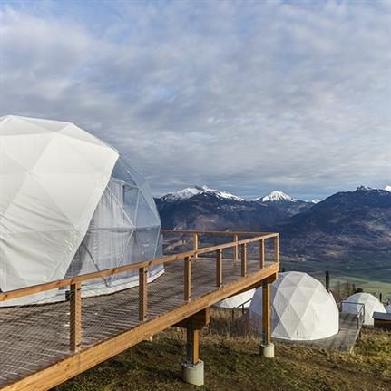 2020 WIN Awards entry: Whitepod, Zen Suite - Montalba Architects