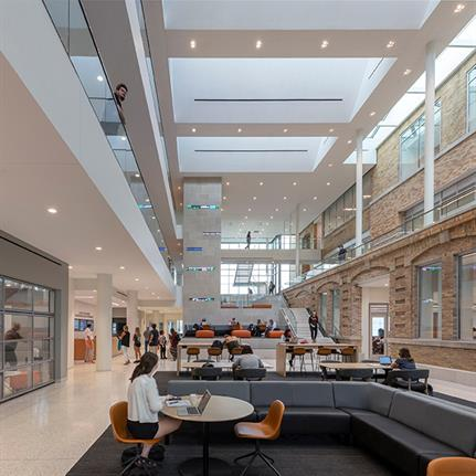 2021 WAN Awards entry: Bowling Green State University, College of Business Maurer Center - Perkins&Will