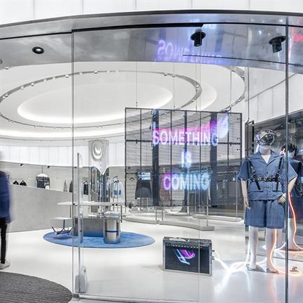 IEW.H Shanghai flagship's gravity defying design by Kokaistudios