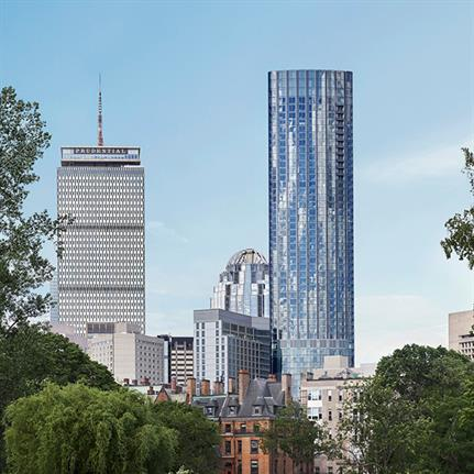 Tallest residential building in New England completed by Pei Cobb Freed & Partners
