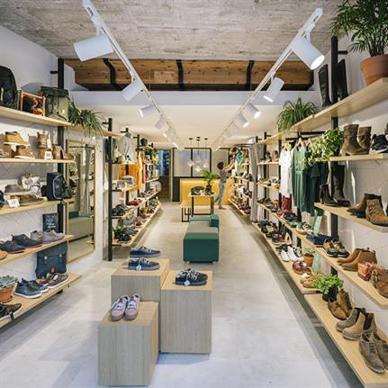 Zooco Estudio's Loopo showroom showcasing the Spanish shoe making tradition