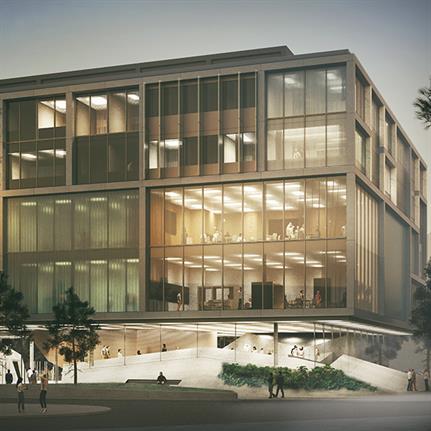 Printer's tray inspires University of Toronto's new facade design