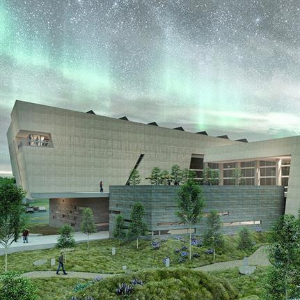 Montana Heritage Center's protrusion design inspired by geology