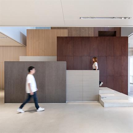 Chongqing city skyline inspired NIO House's staircase design
