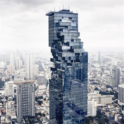 Ole Scheeren's Bangkok tower complete