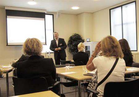 Bert Verdonck speaking at ABPCO's event for in-house PCOs