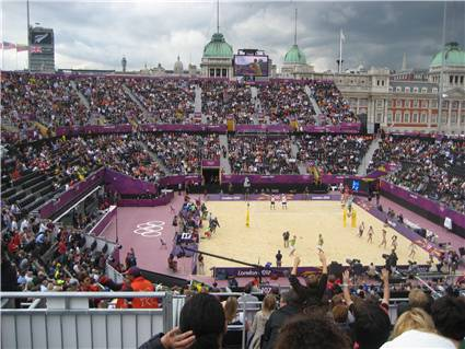 Olympic beach volleyball at Horse Guards Parade