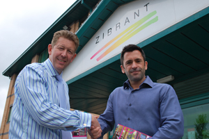 Visit Peak District & Derbyshire chief executive David James and Zibrant managing director Chris Parnham