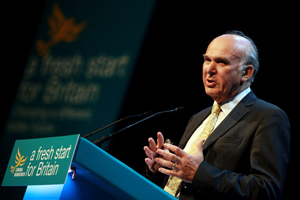 Vince Cable gives backing to events