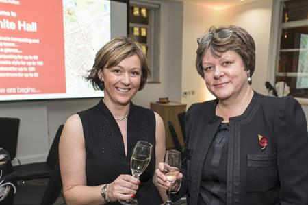 Conference Aston director Lucy Talbot with Aston University vice-chancellor Dame Julia King