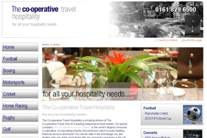 Co-operative's hospitality division launch new website