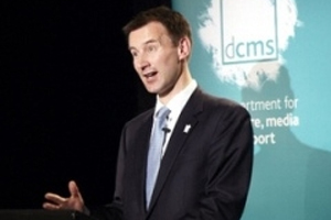 DCMS secretary of state Jeremy Hunt announces business plan