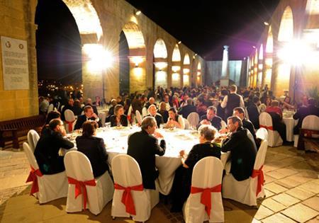 The gala dinner was held at Upper Barrakka Gardens