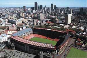 Ellis Park Stadium in Johannesburg
