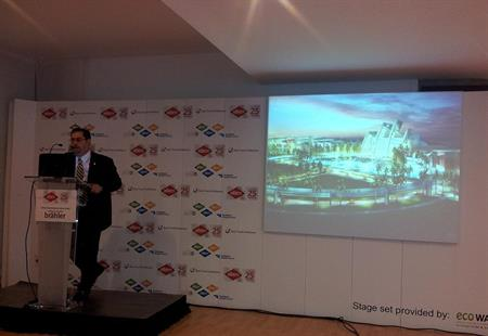 Panama´s vice minister for tourism Ernesto Orillac announces conference centre plans