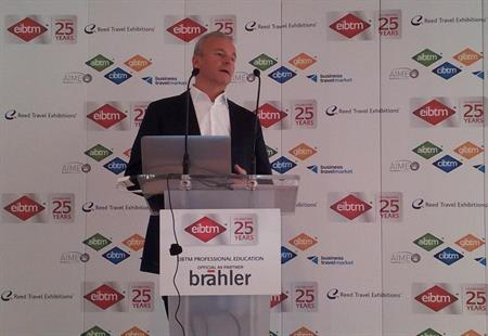 Amiando managing director Norbert Stockmann shares results of Social Media Report 2012 at EIBTM