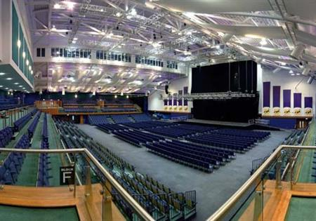 The auditorium at Cheltenham Racecourse seats 2,250