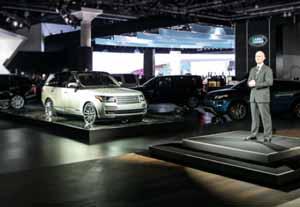 Jaguar Land Rover launches vehicles at LA Auto Show