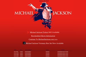 Michael Jackson rescheduling: no impact on corporate hospitality packages