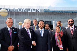 Sheikh Sultan Bin Tahnoon Al Nahyan and Boris Johnson inaugurate the Excel London expansion