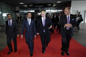 Boris Johnson and Sheikh Sultan Bin Tahnoon Al Nahyan