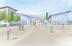 An artist's impression of the Newbury Racecourse development