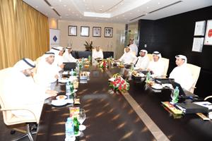 The Dubai World Trade Centre board