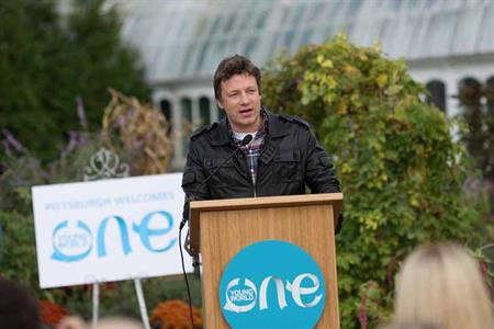 Jamie Oliver joins speakers at One Young World 2012