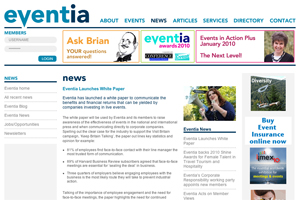 Eventia publishes white paper on commercial beenfits of live corporate events