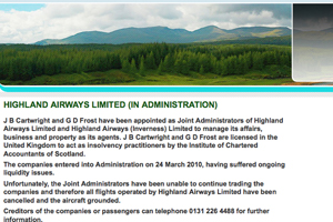 Highland Airways goes into administration